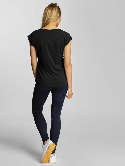Merchcode T-skjorter Korn Cracked Glass svart