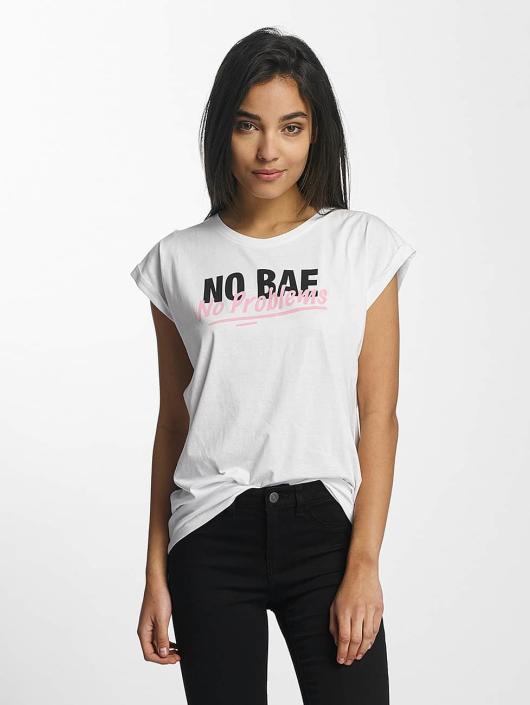 Mister Tee Camiseta No Bae Problems blanco