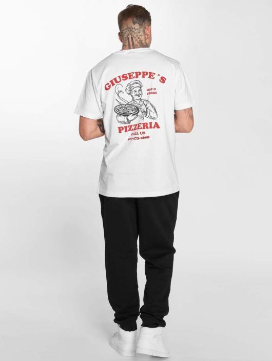 Mister Tee Camiseta Giuseppes Pizzeria blanco