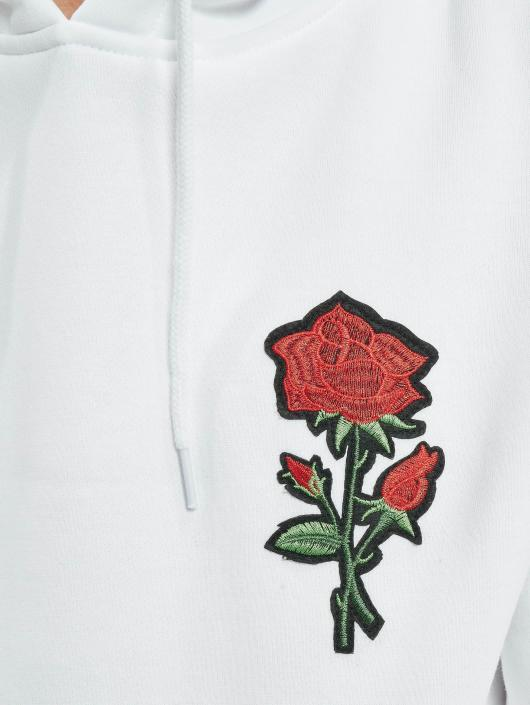 Homme Embroidered Rose Tee Capuche Sweat Mister Blanc 490244 g5wInqx