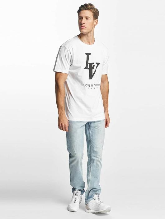 Mister Tee T-shirt Love Vibes Only bianco