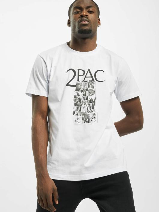 Mister Tee T-Shirt Tupac Collage blanc