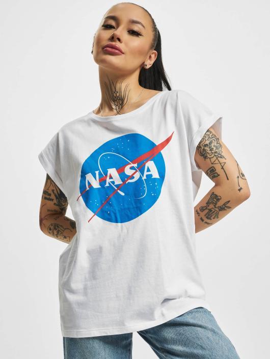 Mister Tee T-Shirt NASA Insignia blanc