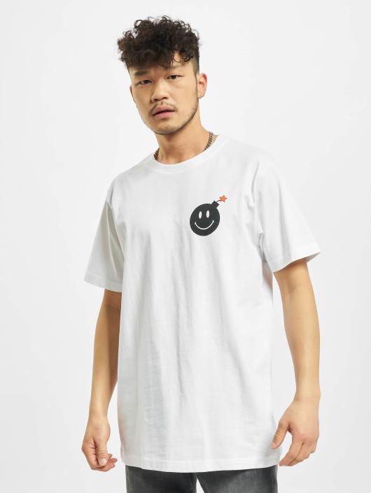 Mister Tee T-Shirt Smiley Bomb blanc
