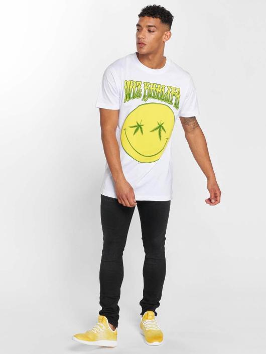 Mister Tee T-Shirt Wiz Khalifa Smile blanc