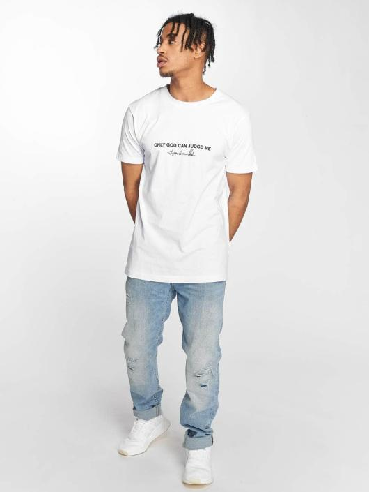 Mister Tee T-Shirt Tupac Cross blanc