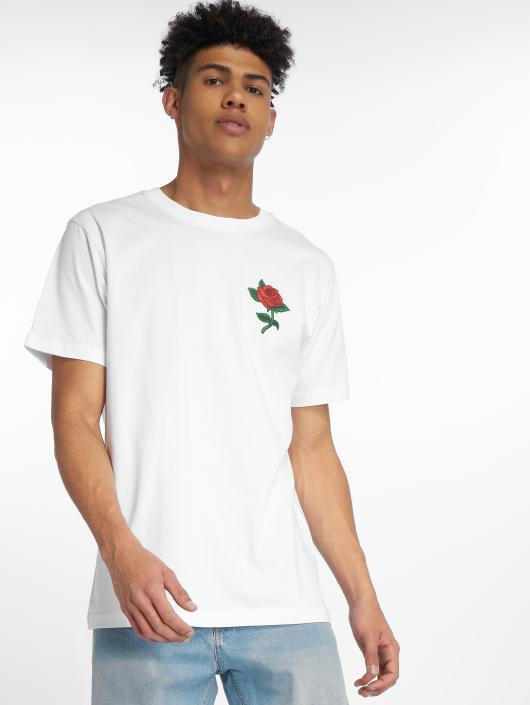 Mister Tee T-Shirt Rose blanc