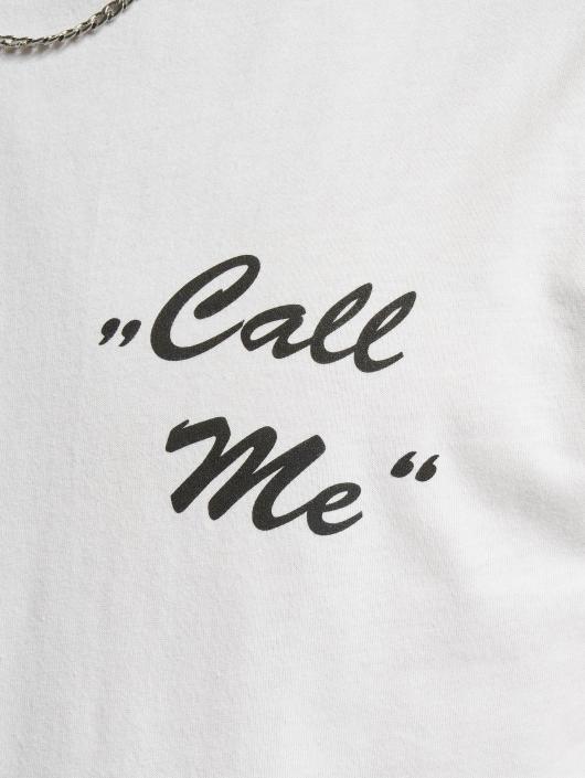 Mister Tee T-Shirt Call Me blanc