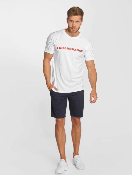 Mister Tee T-Shirt Romance blanc