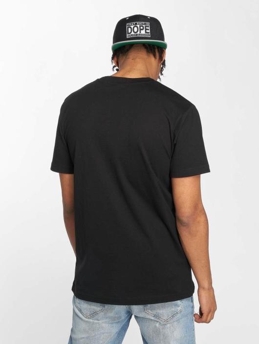 Mister Tee T-Shirt Wiz Khalifa Smoke noir