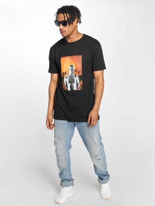 Mister Tee T-Shirt Tupac Sunset College noir