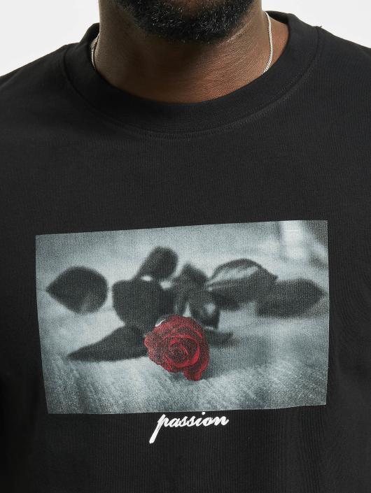 Mister Tee T-Shirt Passion Rose schwarz