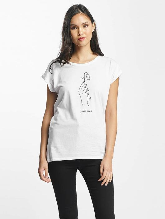 Mister Tee T-Shirt More Love weiß