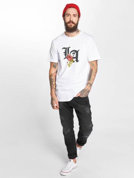 Mister Tee T-Shirt LA Rose weiß
