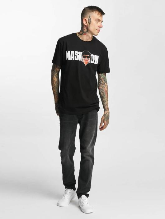Mister Tee t-shirt Mask On Mask Off zwart
