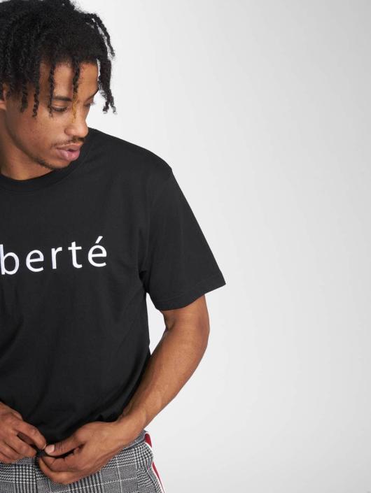 Mister Tee t-shirt Liberté zwart