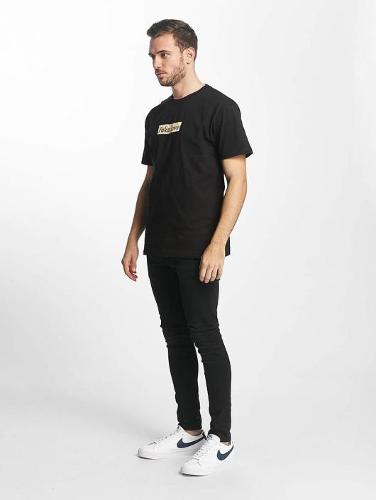 Mister Tee T-Shirty Fake Love czarny