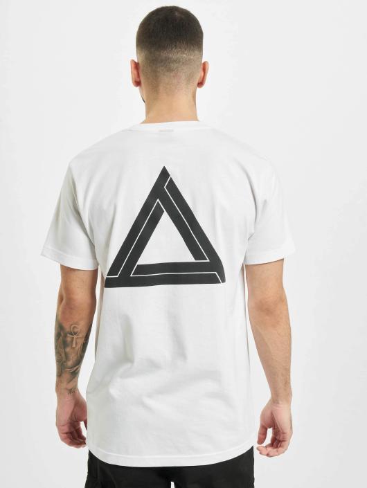 Mister Tee T-skjorter Triangle hvit