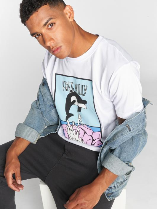 Mister Tee T-skjorter Free Willy hvit