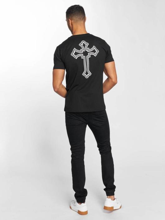 Mister Tee T-skjorter Tupac Cross svart