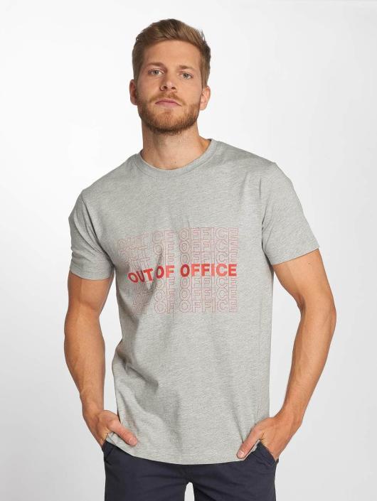 Mister Tee Tričká Out Of Office šedá