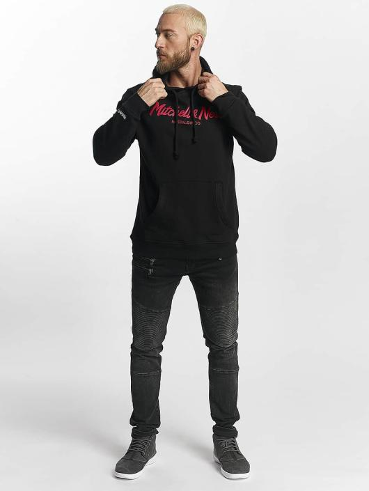 Mitchell & Ness Sudadera Red Pop Pinscript negro