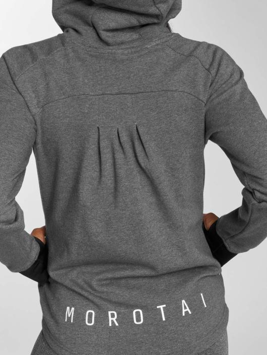 MOROTAI Felpa con cappuccio sportive Comfy Performance grigio