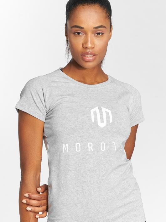 MOROTAI Tričká Premium Basic Brand šedá