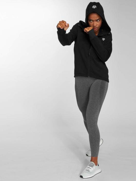 MOROTAI Zip Hoodie Comfy Performance čern