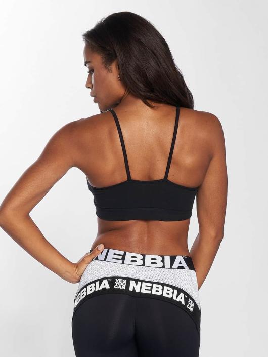 Nebbia Športová podprsenka Logo čern