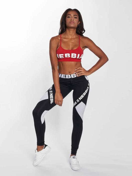 Nebbia Biustonosz sportowy Logo czerwony