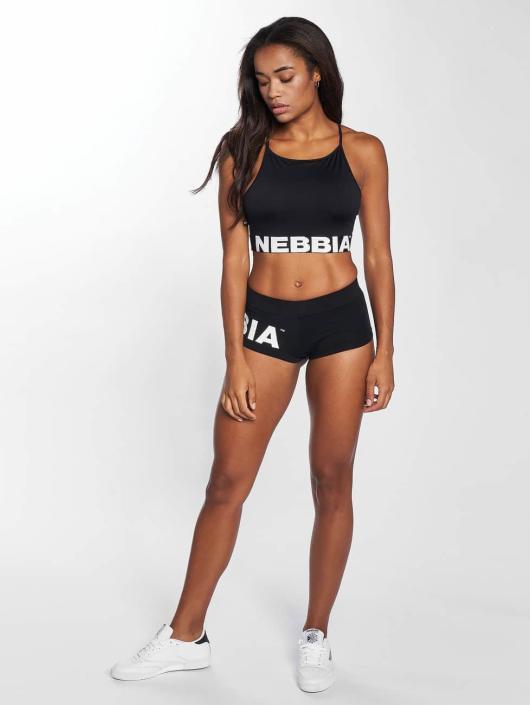Nebbia Camiseta Crop negro