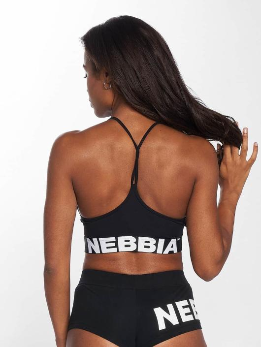 Nebbia t-shirt Crop zwart