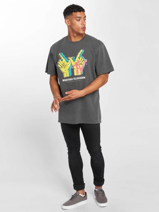 NEFF t-shirt Whatever TV Pigment grijs
