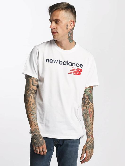 New Balance T-Shirty Athletic Main LG bialy