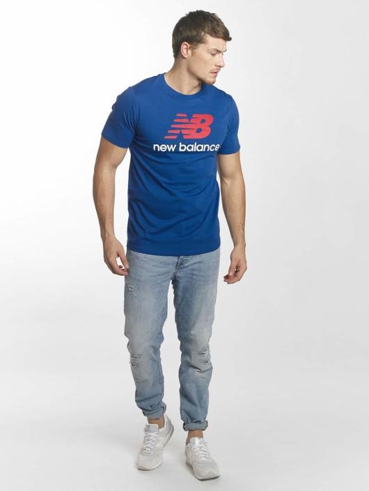 New Balance T-Shirty MT73587 Essentials niebieski