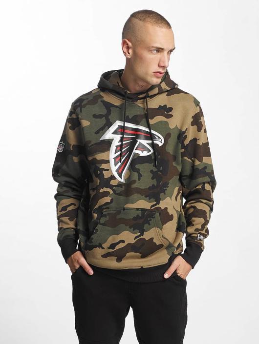New Era Bluzy z kapturem Woodland Atlanta Falcons moro