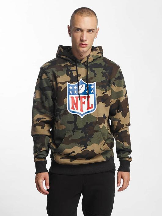 New Era Bluzy z kapturem Woodland NFL Generic Logo moro