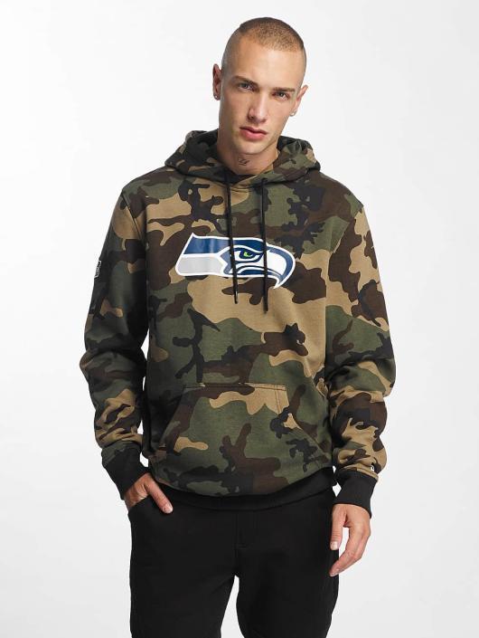 New Era Bluzy z kapturem Woodland Seattle Seahawks moro