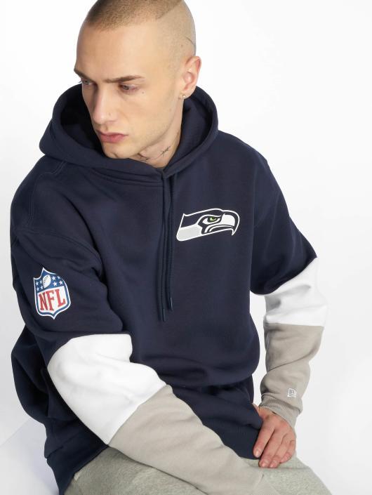 New Era Bluzy z kapturem Nfl Colour Block Seattle Seahawks niebieski