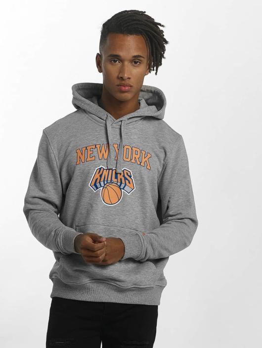 New Era Bluzy z kapturem Team Logo NY Knicks szary