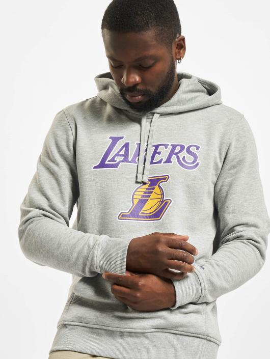 New Era Team Logo LA Lakers Hoody Light Grey Heather