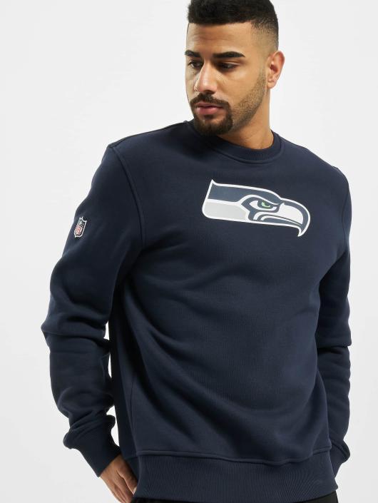 New Era Pullover Team Logo Seattle Seahawks blau
