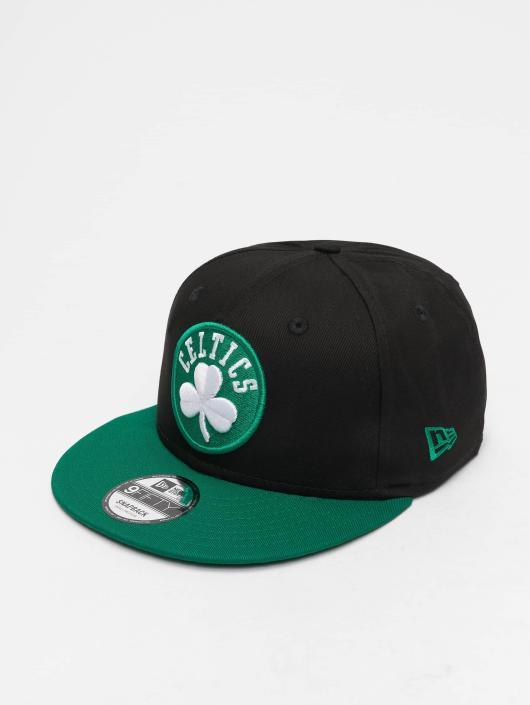 New Era Snapback Cap NBA Contrast Team Bosten Celtics 9 schwarz
