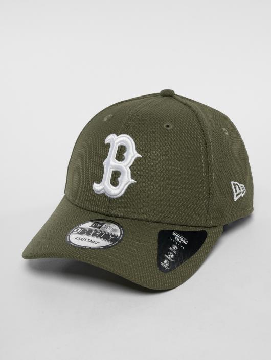 New Era Snapback Caps MLB Diamond Bosten Red Sox 9 Fourty oliven