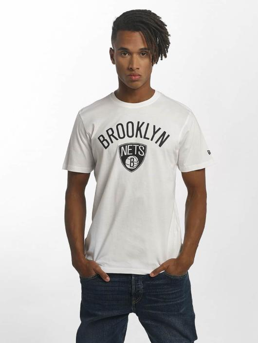 New Era T-Shirty Team Logo Brooklyn Nets bialy