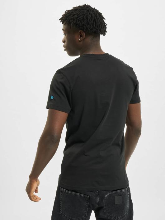 New Era T-Shirty Team Logo Carolina Panthers czarny