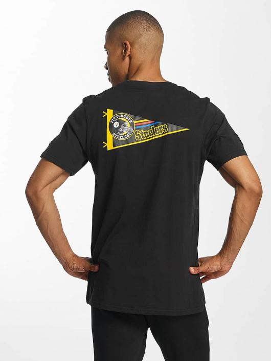 New Era T-Shirty NFL Pennant Pittsburgh Steelers czarny