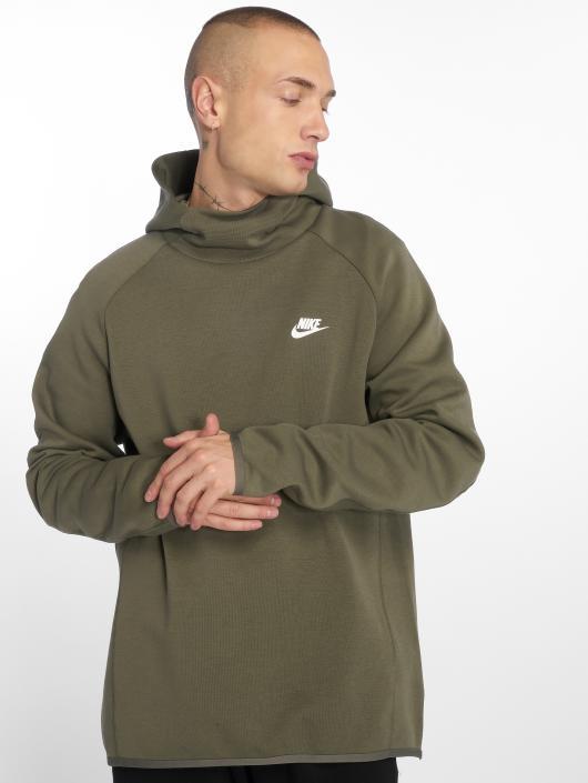 Nike Bluzy z kapturem Sportswear Tech oliwkowy