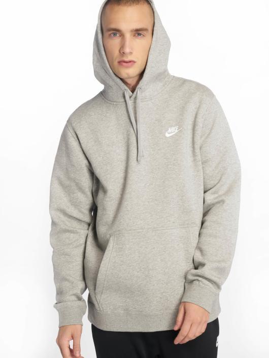 grå hoodie nike